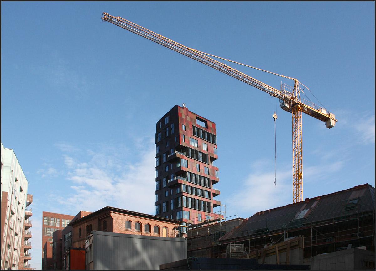 Der Cinnamon Tower In Der Hamburger Hafencity Oktober